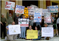 Picture: Some participants at the judicial ethics rally.