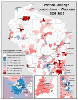 Partisan Campaign Contributions in Wisconsin 2003-2012