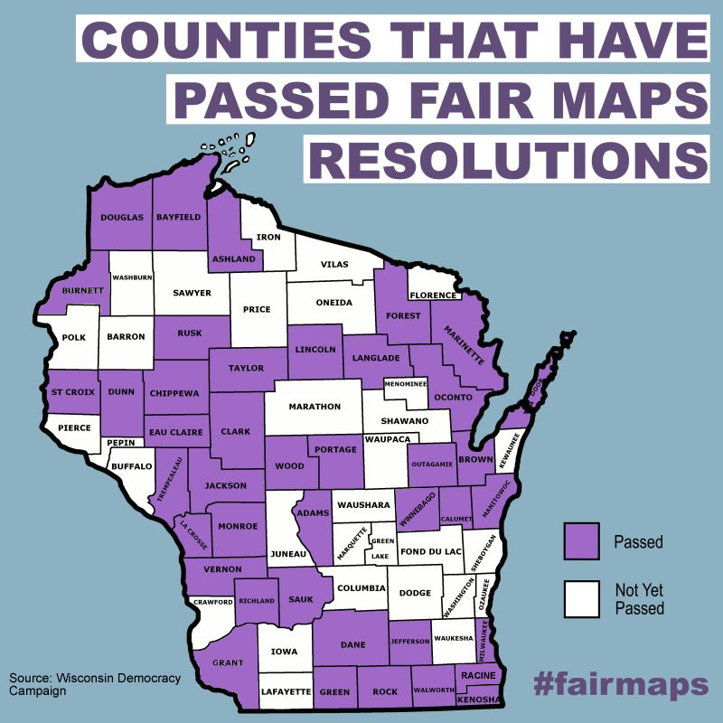 Support Fair Voting Maps - Wisconsin Democracy Campaign