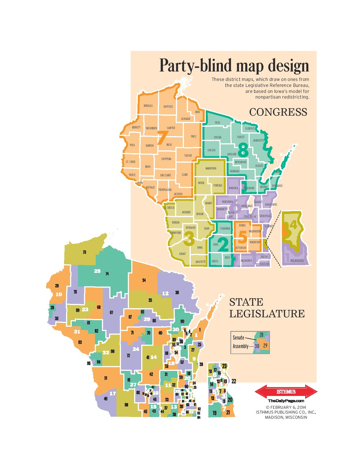 LRB Combined Nonpartisan New Legislative District Maps