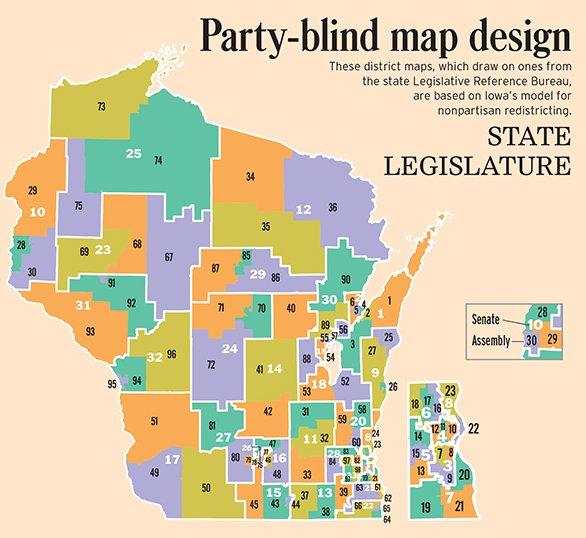 LRB nonpartisan assembly districts map thumbnail