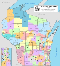 Wisconsin Assembly District Map