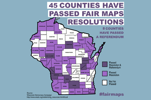 Counties Backing Fair Maps
