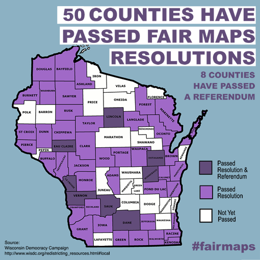 Map: Counties Have Passed Fair Maps Resolutions
