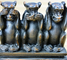 Three Monkeys: See No Evil, Say No Evil, Hear No Evil