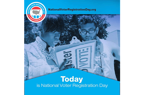 Celebrate National Voter Registration Day