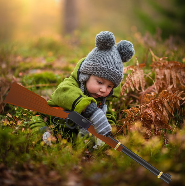 Baby with Rifle