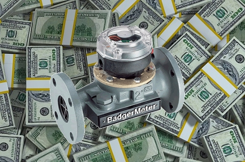 Badger Meter with Cash