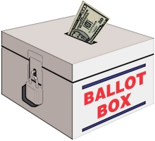 Ballot Box with Cash