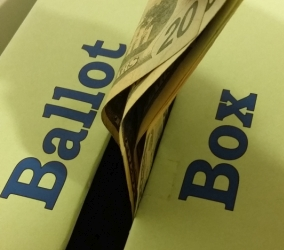 Stuffing Ballot  Box with Cash