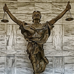 Statue of Justice Blind Folded
