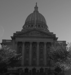 Wisconsin Capitol Black and White