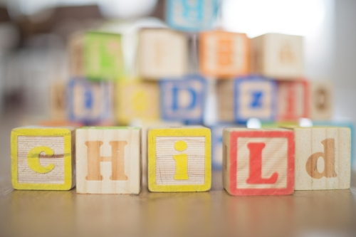 Toy Wooden Blocks Spelling Child