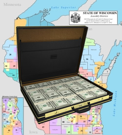 District Map and Briefcase of Cash