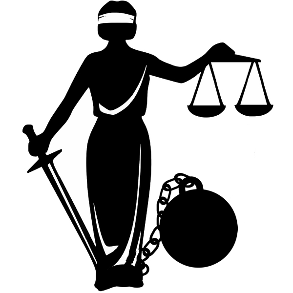 Lady Justice in Ball and Chain