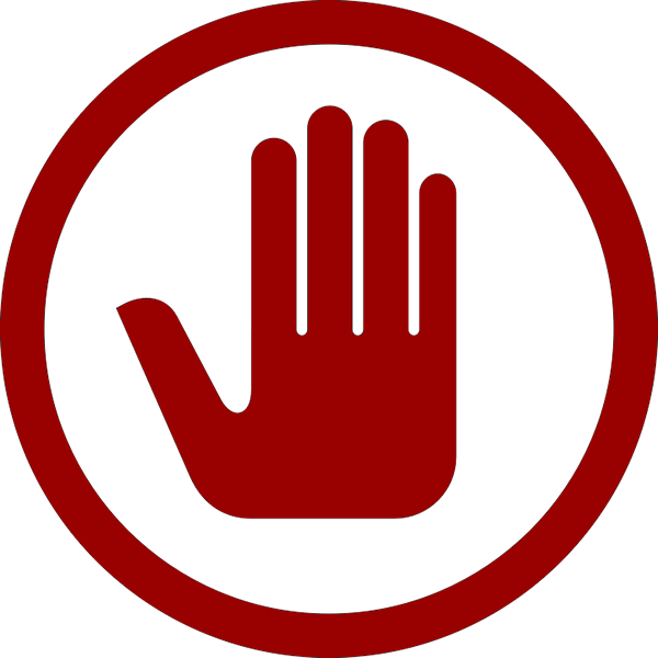 Hand Indicating Prohibition