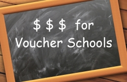 Blackboard: $$$ for Voucher Schools