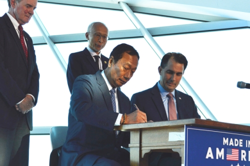 Walker signing Foxconn deal