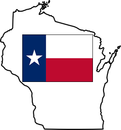 Texas Flag in Wisconsin Borders